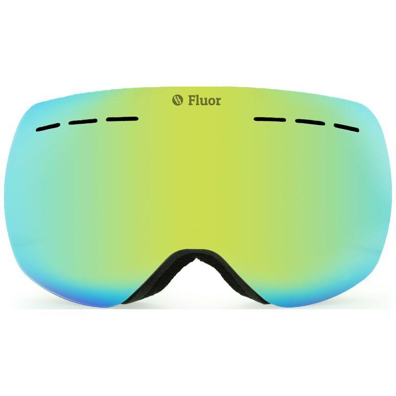 Teknic Fluor HX021 Ski Goggles (Black/Gold) | Sportpursuit com