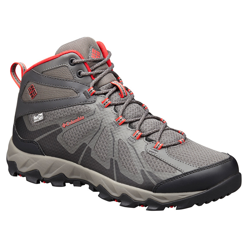 Mens Peakfreak XCRSN II XCEL Outdry Shoes (City Grey/Bright Red)