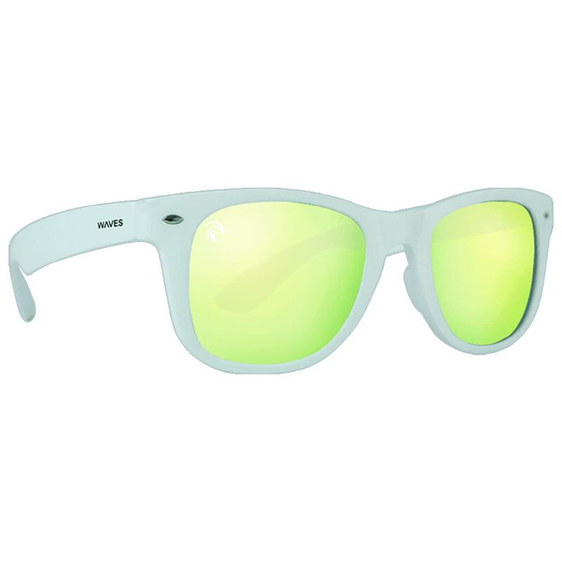 a021773407 Waves Gear Floating Sunglasses (Reflective White Sun Gold)