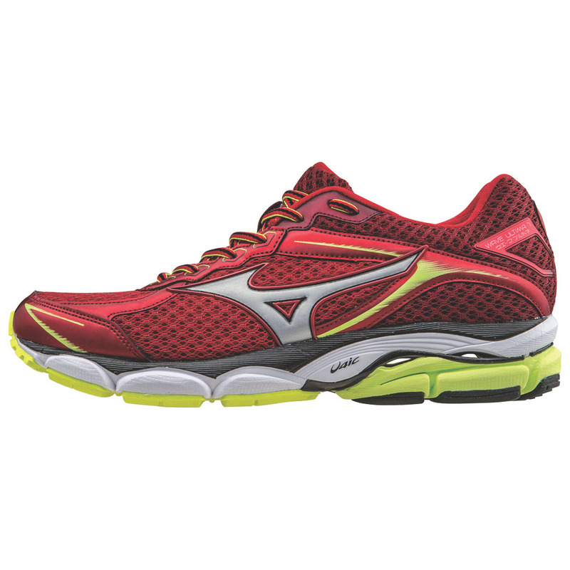 finest selection 5d6aa b5d7c Mens Wave Ultima 7 Shoes (Chinese Red Silver Safety Yellow)