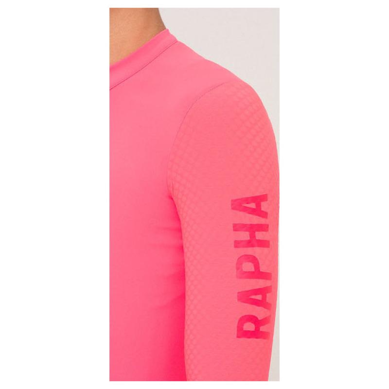 Rapha Mens Pro Team Aero Longsleeve Jersey (Hi-Vis Pink)  e456a1921