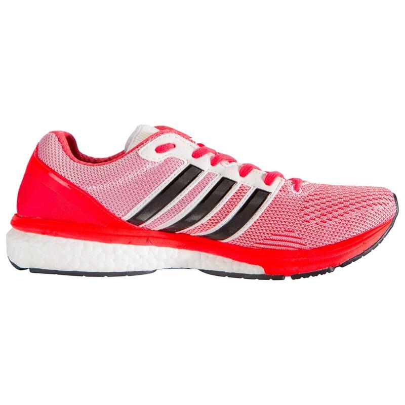 new concept 13e75 10731 Womens Adizero Boston Boost 5 Shoes (White Core Black Shock Red)