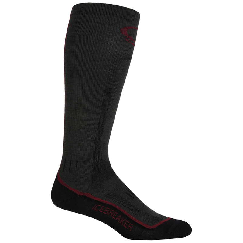 5d20798cc67d Mens Skier Ultralight OTC Socks (Oil Red Black