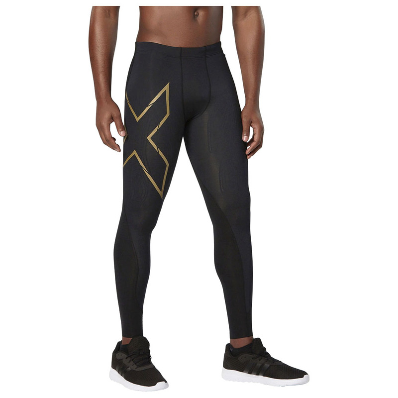 1f0ff4f567d86 2XU Mens Elite MCS Compression Tights (Black/Gold) | Sportpursuit ...