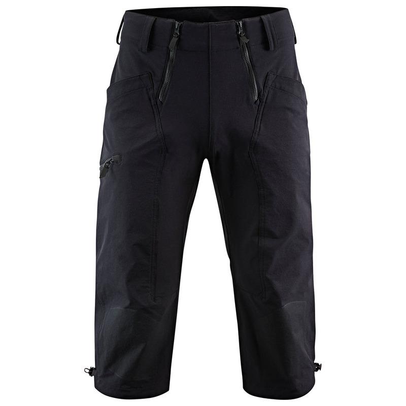 Klattermusen Mens Misty Crop Trousers (Black)  6c65dcca1