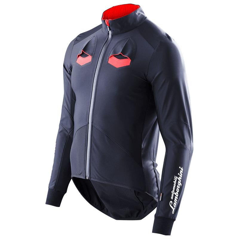 X Bionic Mens Lamborghini Ow Cycling Jacket Black Red Sportpursuit