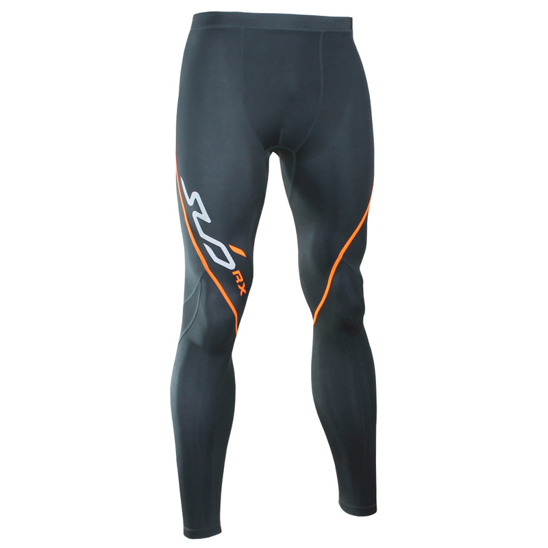 d75781683cf90 Sub Sports Mens RX Stealth Compression Leggings (Black/Orange ...
