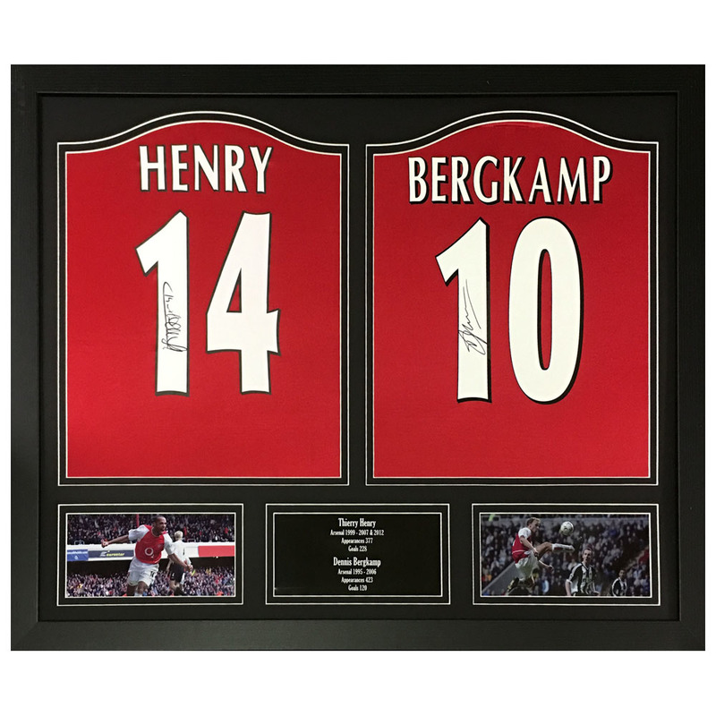 7c146c45b33 Sporting Memorabilia Henry Bergkamp Signed   Framed Shirts
