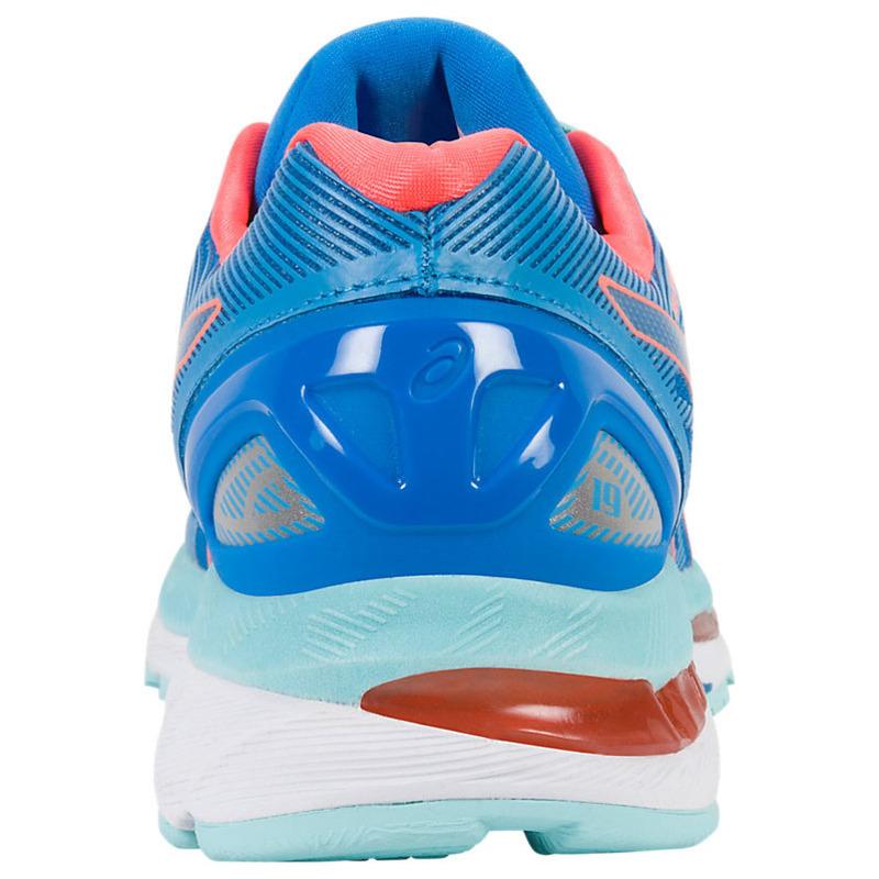 22e9b4a3b4d2 Asics Womens Gel-Nimbus 19 Shoes (Diva Blue Flash Coral Aqua Splash)