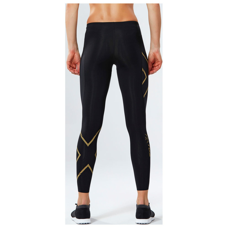 e7037a8a14 2XU Womens MCS Thermal Compression Tights (Black/Gold ...