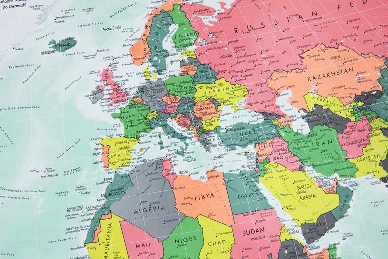 The Future Mapping Company Paper Winkel Tripel World Map 1000 X 645mm