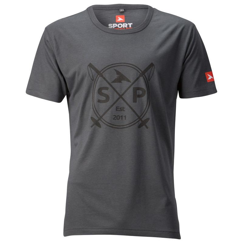 SportPursuit Mens SP Est 2011 Ski Poles Bamboo T-Shirt