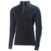 Mens Merino Warm Freeze 1/2 Zip Pullover (Black/Cobalt)