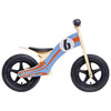 Kids Wooden Balance Bike (Blue/Orange)