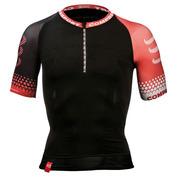 Mens Trail Running Compression Short Sleeve Top (Black)