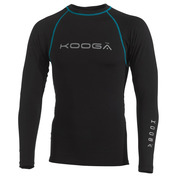 Mens Long-Sleeve Power Shirt (Black/Blue)