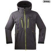 Mens Trolltind Jacket (Solid Dark Grey\/Lime\/Navy)