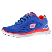 Womens Flex Appeal Love Your Style Trainers (Blue/Coral)