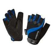 Mens Fingerless Summer Cycle Gloves (Black/Blue)