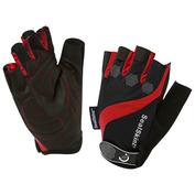 Fingerless Summer Gloves (Black/Red)