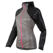 Womens Pursuit Barrier LT Hoodie (Black/Monument Grey)