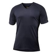 Mens Merino Breeze Short Sleeve V-Neck T-Shirt (Black)