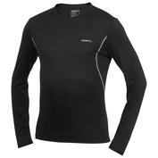 Mens Cool V-Neck Long Sleeve Top (Black)