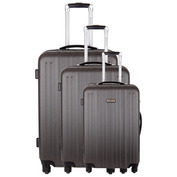 Sicuani Set of 3 Suitcases (Grey)