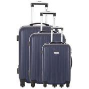 Swans Set of 3 Suitcases (Marine)