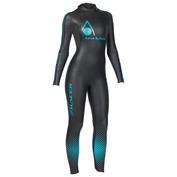 Womens Racer Wetsuit (Black\/Aqua)