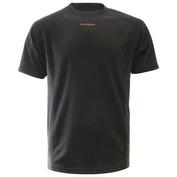 Mens Seven Short Sleeve Top (Plain Black)