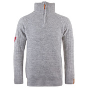 Mens Gribb Merino Sweater (Light Grey)