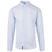 Mens Crayfish Shirt (Light Blue Stripes)