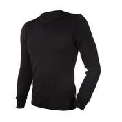 Mens Black Line Long Sleeve Top (Black)
