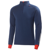 Mens Merino Warm Freeze 1/2 Zip Pullover (Evening Blue/Red)