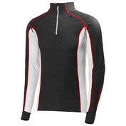 Mens Merino Warm Freeze 1/2 Zip Pullover (Ebony/White)