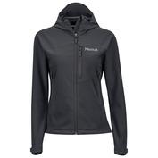 Womens Estes Hooded Softshell Jacket (Black)