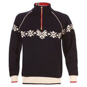 Mens Sochi Knitted Sweater (Navy/Off White/Raspberry)