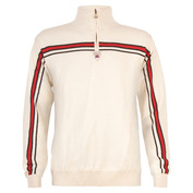 Mens Sapporo Weatherproof Jumper (Off White/Raspberry Red)