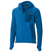 Mens Stretch Fleece Hooded Jacket (Blue Sapphire)