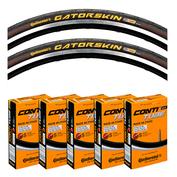 GatorSkin Folding Tyre Set & Pack of 5 Tubes