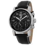 Mens Montreal Automatic Watch (Black - Black Leather Strap)