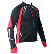Winter Brushed Cycling Jacket (Black/Red)