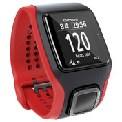 HRM Multi-Sport GPS Cardio Watch (Black/Red)