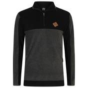 Mens Alpine Half Zip Fleece (Black)