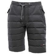 Mens Cluster Down Shorts (Ash Black)