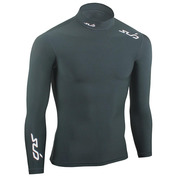 Youth Cold Long Sleeve Mock Compression Top (Black)