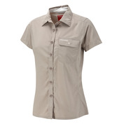 Womens NosiLife Darla II Short Sleeve Shirt (Mushroom)