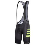 Mens DrySkin AirX Bib Shorts (Black/Fluorescent Yellow)