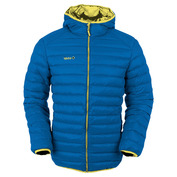 Mens Florenz Down Jacket With Hood (Royal\/Yellow)
